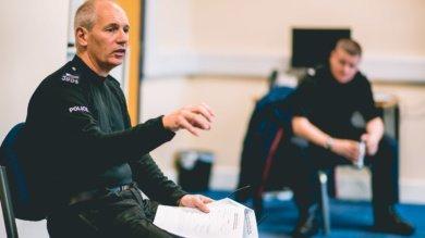 Police officer attending clarion uk Deaf Awareness Training